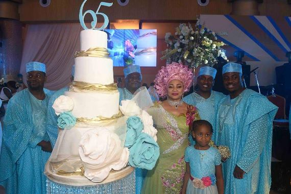 alakija and family gives thanks giving