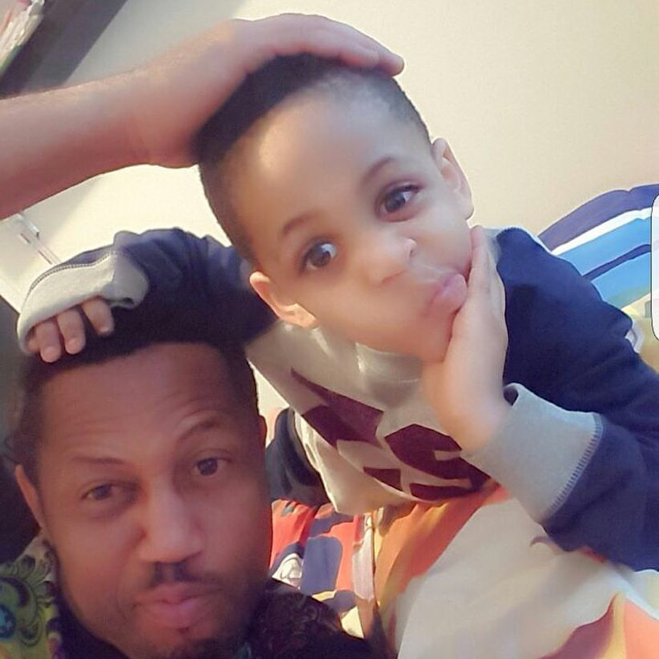 Actor Mike Celebrates His Son