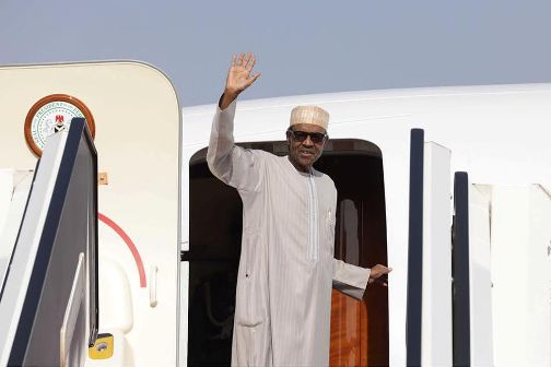 BUHARI TRAVELS TO MOROCCO (SEE PICTURES OF HIS GARMENT)