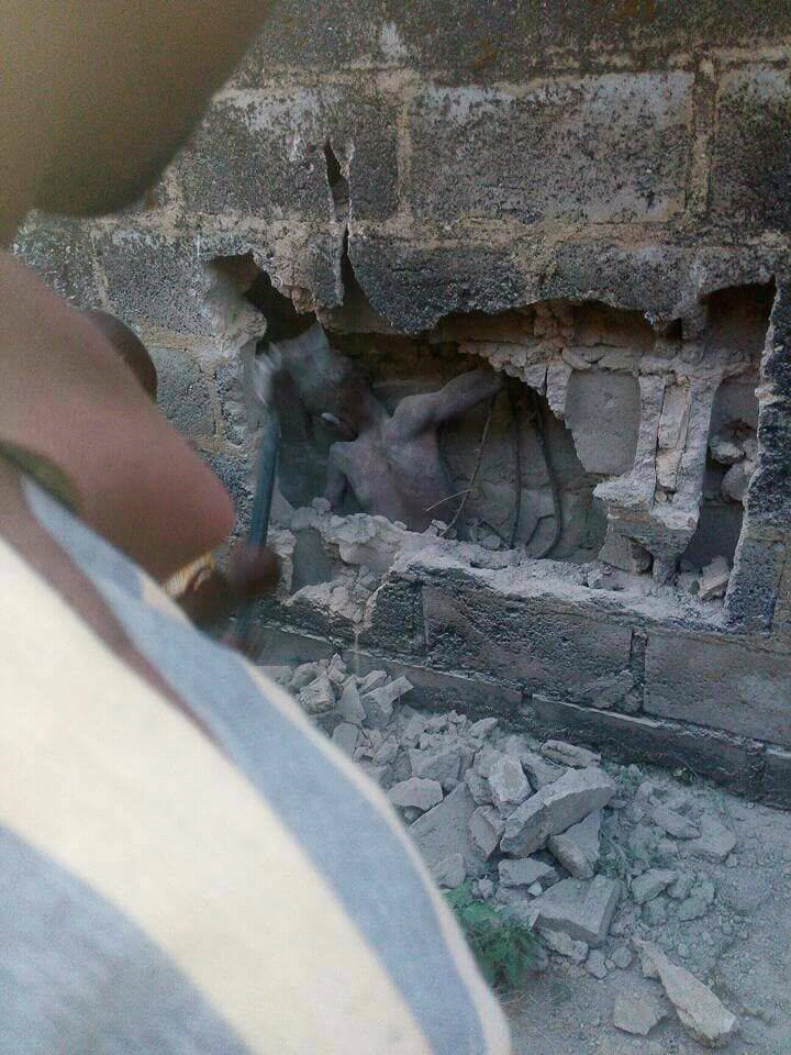 A Boy Found Between Walls As Pastor Was Praying At An Uncompleted Building In Ondo State