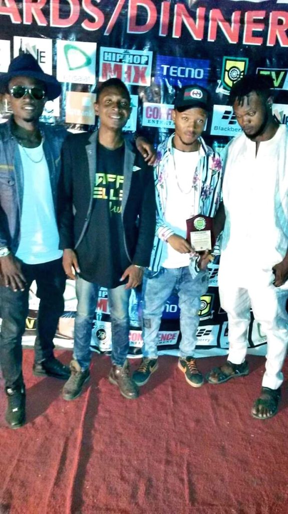 Radious Celebrates With Femilee On His Award Of The Most Popular Male Student On Campus (Yabatech)
