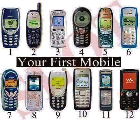 Phones Of Early 2000 Which Was Your First???  In Photos
