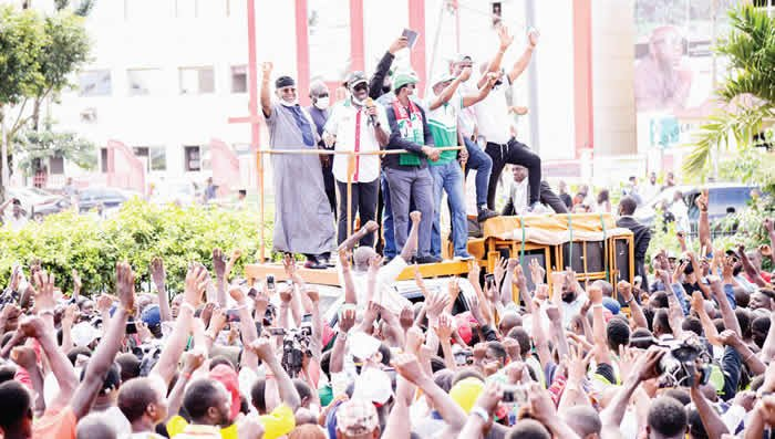 Obaseki Leads  Victory Parade and Thanked Edo People For Voting Him In For Another Four Years