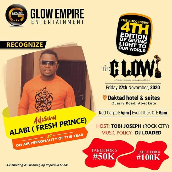 """Emerge On Air Personality Of The Year At """"GLOW AWARD"""", Read Full Story And Photos"""