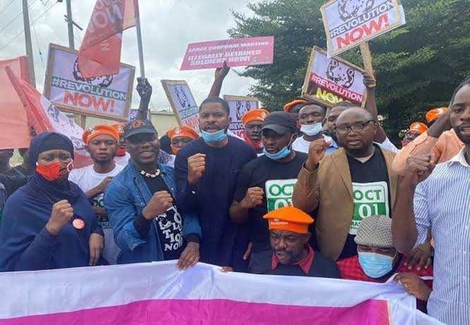 Protester's Storm Lagos Street Asking End to Bad Government