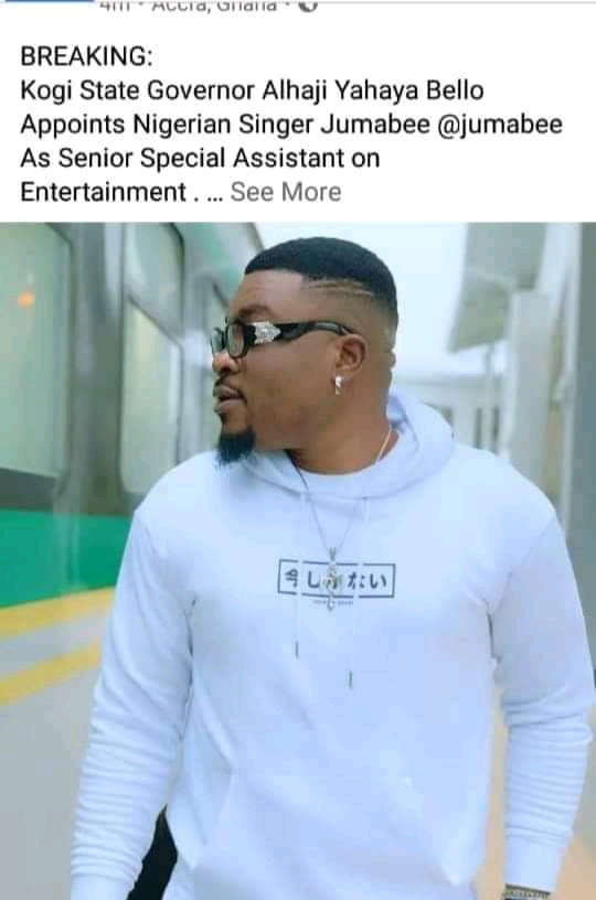 Jumabee Becomes Special Assistance on Entertainment to the KOGI STATE GOVERNMENT @jumabee