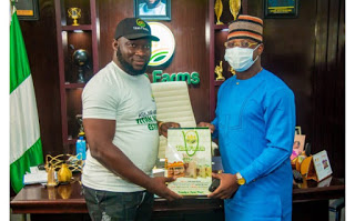 *Oyo Commissioner For Youth & Sport, Fakorede Visits Titan Farm House, Calls for Business Sustainability*