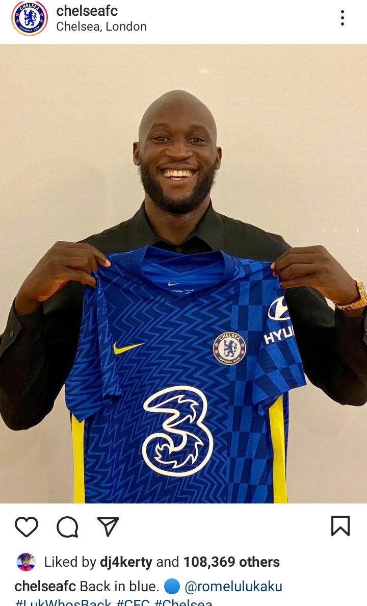 #Lukaku Romelo Lukaku Has Officially signed 5 years deal with Chelsea Football Club