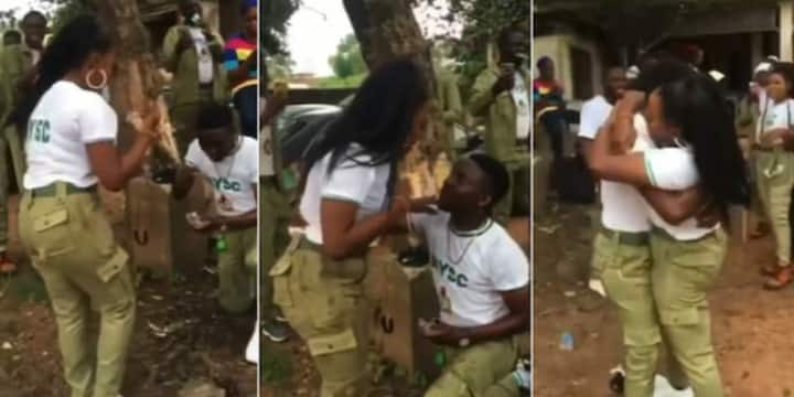 4 Corps Members who Found Love and Got Engaged During NYSC, their Cute Proposal Photos Still Warming Hearts